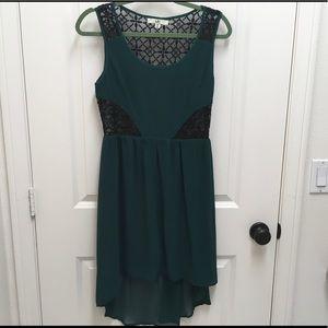 YA L.A. Dark green & black sequined cocktail dress